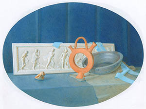 Bas-relief with Hellenes and ceramics