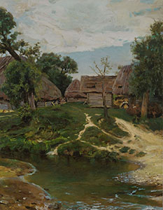 "Copy of the painting by V. Polenov ""Village of Turgenevo"""