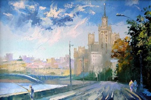 "A series the Moscow streets. ""Kotelinicheskaya quay"""