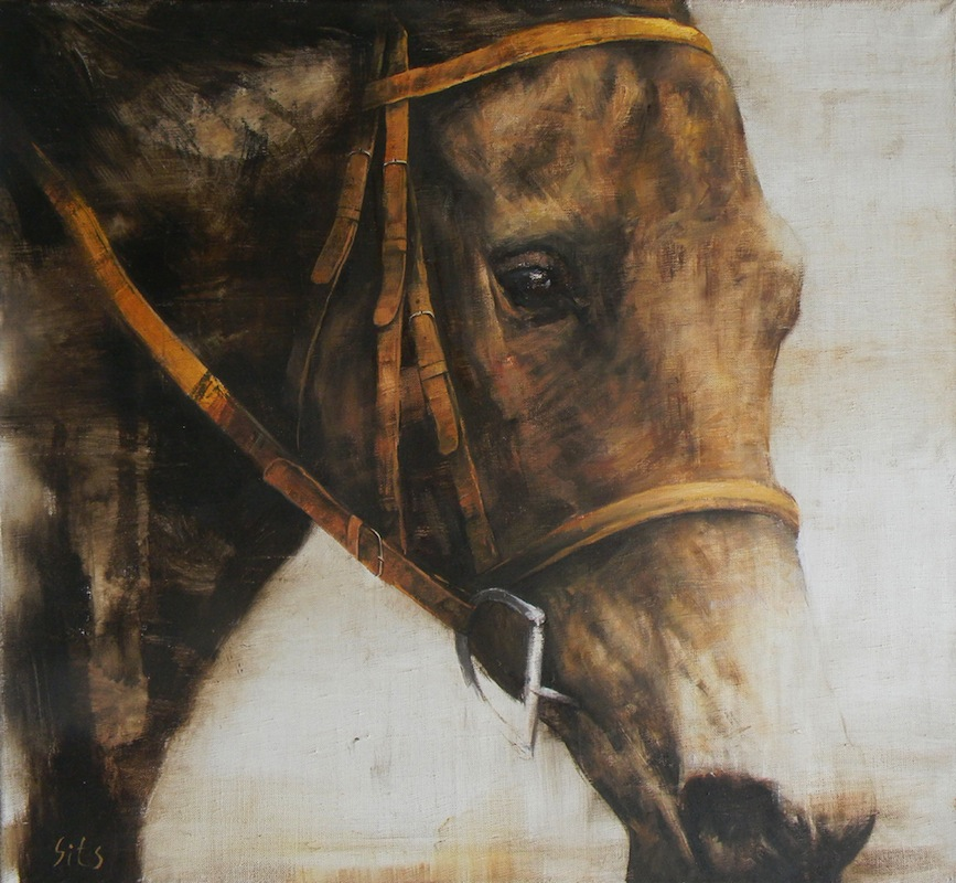 Portrait of a horse, Andrey Sitsko- painting of a horse, horse portrait, horse head