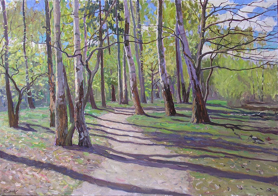 May. Birch grove, Sergei Chaplygin
