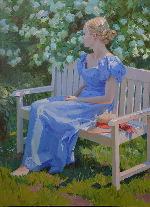 Girl in blue, Evgeny Balakshin