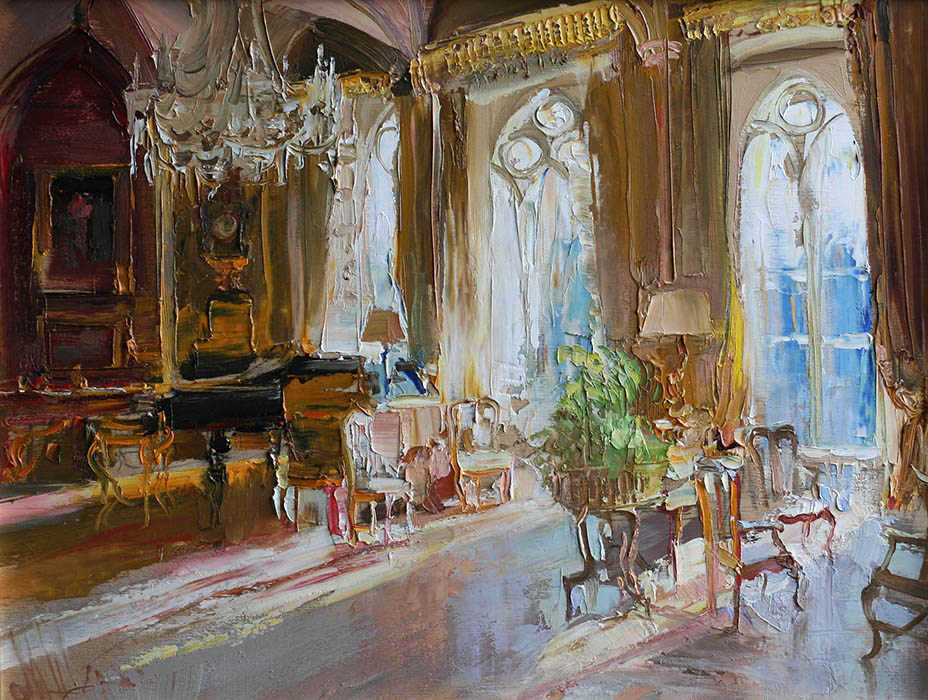 Interior of a castle, Maria Sherbinina