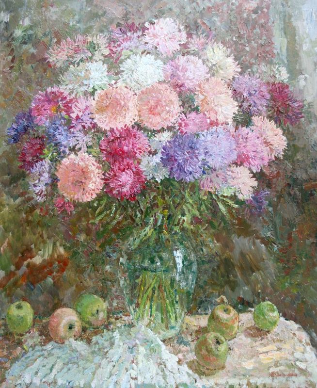 Flowers and apples, Lyudmila Balandina