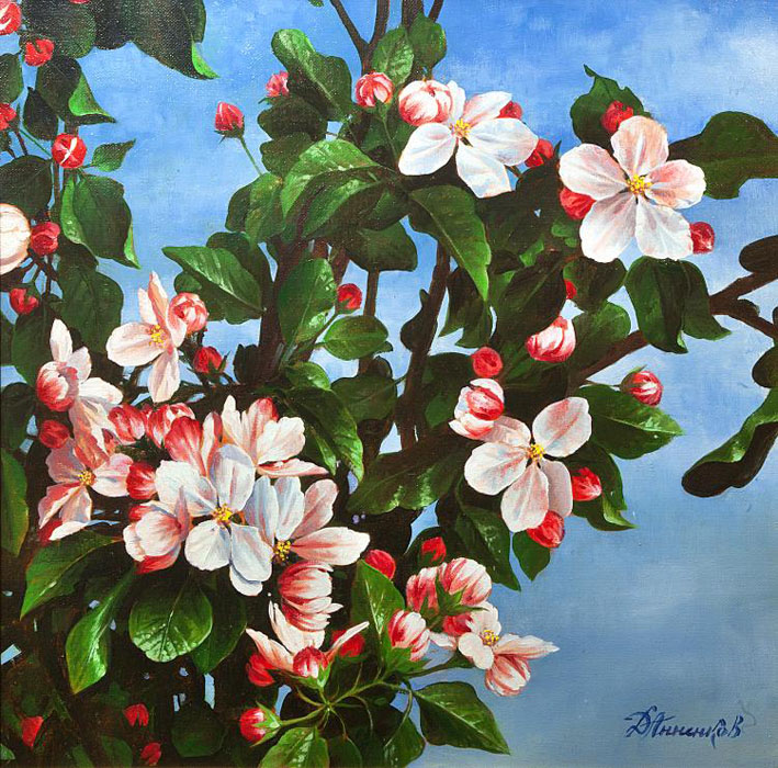 Apple tree blossoms, Dmitri Annenkov