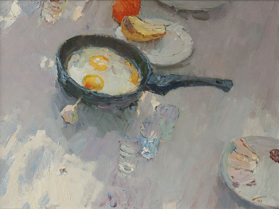 Breakfast of artists, Peter Bezrukov