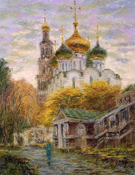 Smolensk cathedral in cloudy weather, Valery Rubanenko