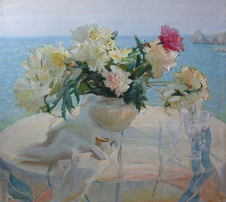 Pionies in the sun, Maria Sherbinina
