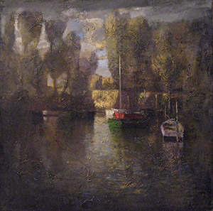 Landscape with boats
