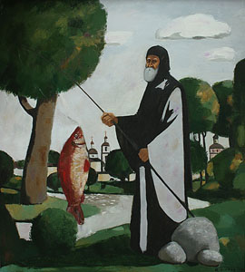 Monk and fish