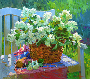 Lilacs in the basket