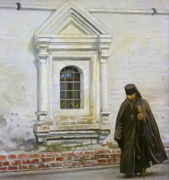 At temple, Philipp Kubarev