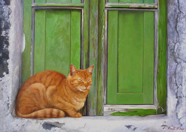 Red-headed cat, Tatyana Deriiy