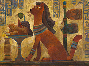 The favorite cat of a pharaoh