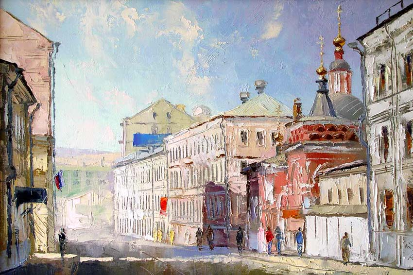 "A series the Moscow streets. ""Podkolokolinyy a lane"", Mikhail Brovkin"