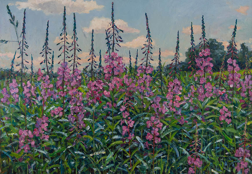 Field with blooming Sally, Sergei Chaplygin