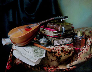 Still-life with mandoline