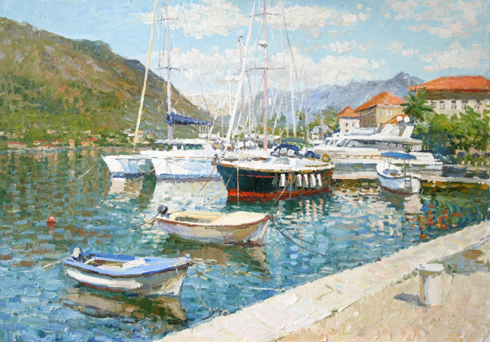 The quay in Kotor. Montenegro, Sergei Lyakhovitch