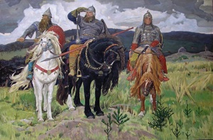 "Vasnetsov, Victor (1848-1926) ""Warrior Knights"" The copy"
