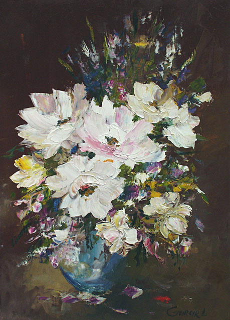 Bouquet of white roses, Ludmila Gurar