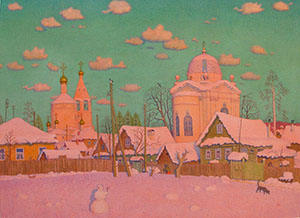 Old outskirts of town in Cheboksary (1st prize contest CIS artists)