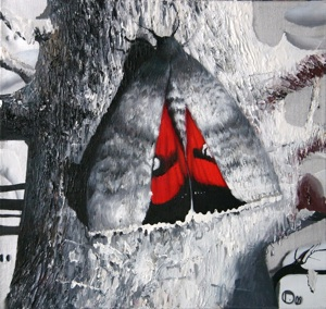The butterfly on a tree