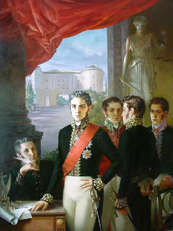 Secret committee, Oleg Leonov- painting, historical story, the revolt of the Decembrists