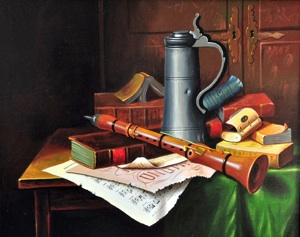 Still-life with a pipe