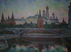 Dawn on The Moscow-river