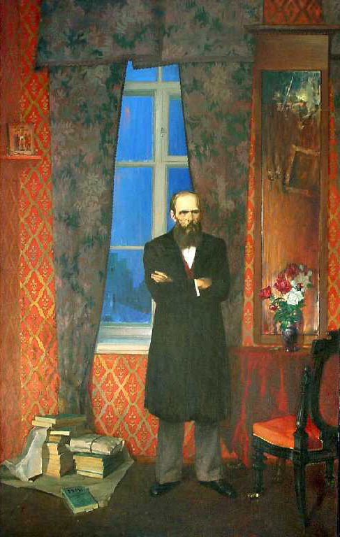 Dostoevsky, Oleg Leonov- painting the great Russian writer, portrait, history, Russia
