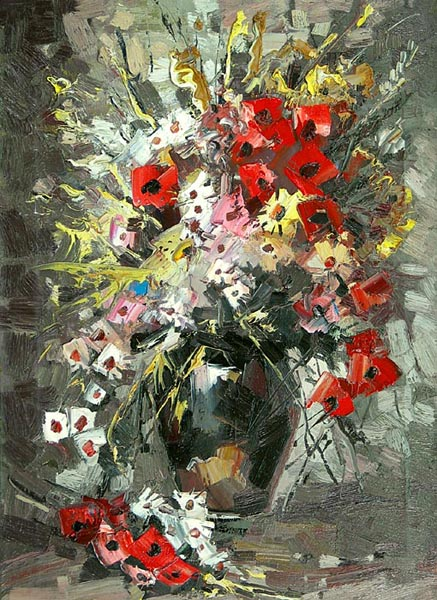Bouquet in the dark vase, Ivan Ageev