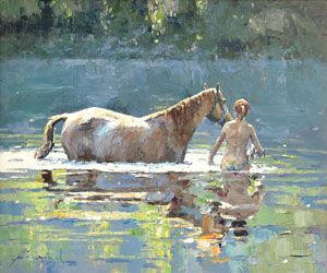Bathing of Horse