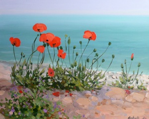 Poppies. Ionian sea