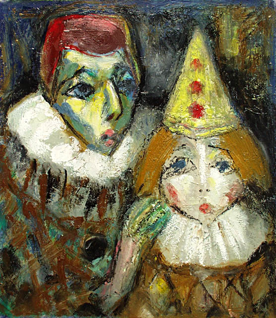 Two clowns, Alexander Sapozhnikov