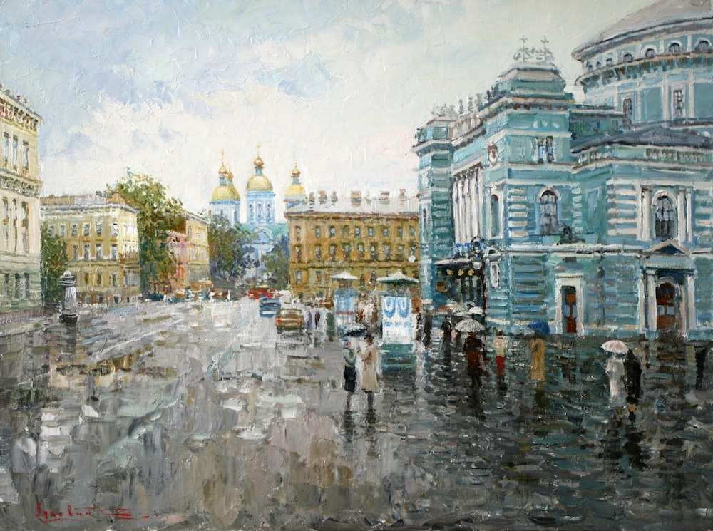 St. Petersburg. Theater square, Sergei Lyakhovitch
