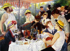 "Renoir, Pierre-Auguste (1841-1919) ""Breakfast with Boatmen Bowl"" The copy"