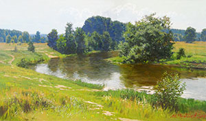The bend of the Klyazma river