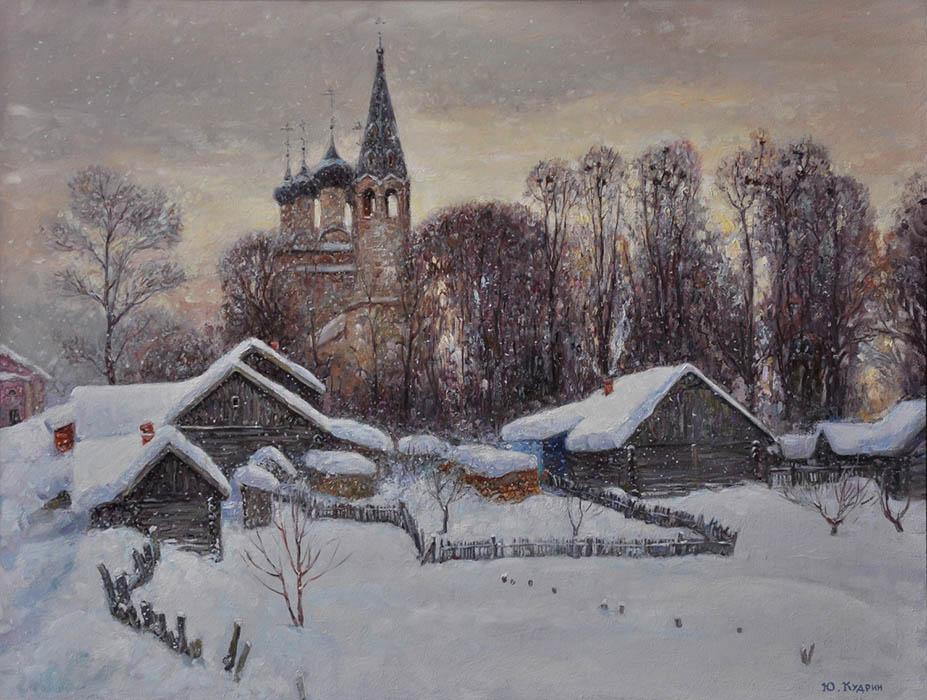 Snowy winter, Yuri Kudrin