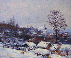 Vladimir. Winter cloudy day