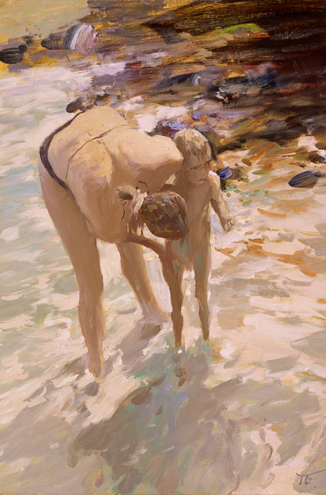 Washing off of sand, Peter Bezrukov