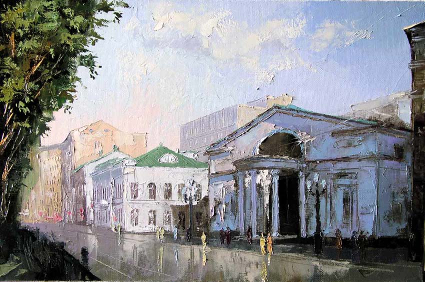 "A series the Moscow streets. ""Chistoprudnyy boulevard"", Mikhail Brovkin"