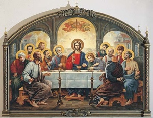 The Last Supper. Cathedral of Christ the Saviour. Patriarchal refectory