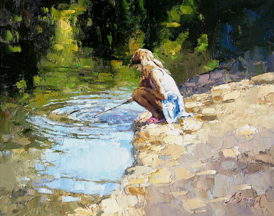 Girl with twig (to order), Alexi Zaitsev