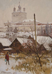 January in Pereslavl Zalessky. Scetch