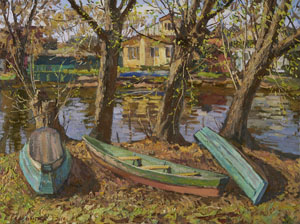 Spring. On the shore of Trubezh