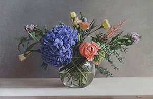 Still-life with the Blue Hydrangea
