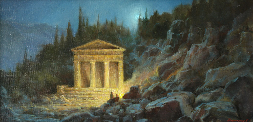 Night motif. Treasury of the Athenians in Delphi, George Dmitriev