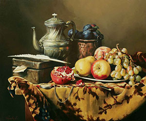 Still-life with the pomegranate