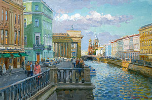 Near the Kazan Cathedral. St. Petersburg