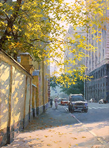 Autumn on the Goncharnaya street. Moscow